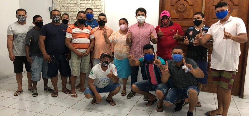 Eleições 2020: Bruno Silva se reúne com trabalhadores da construção civil em Coelho Neto