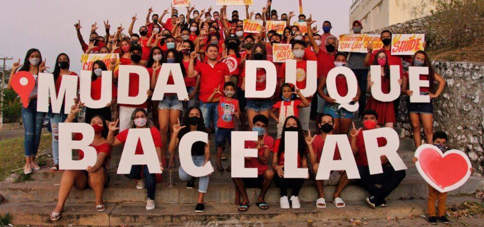 Jovens se reúnem em apoio a Luis Sousa em Duque Bacelar