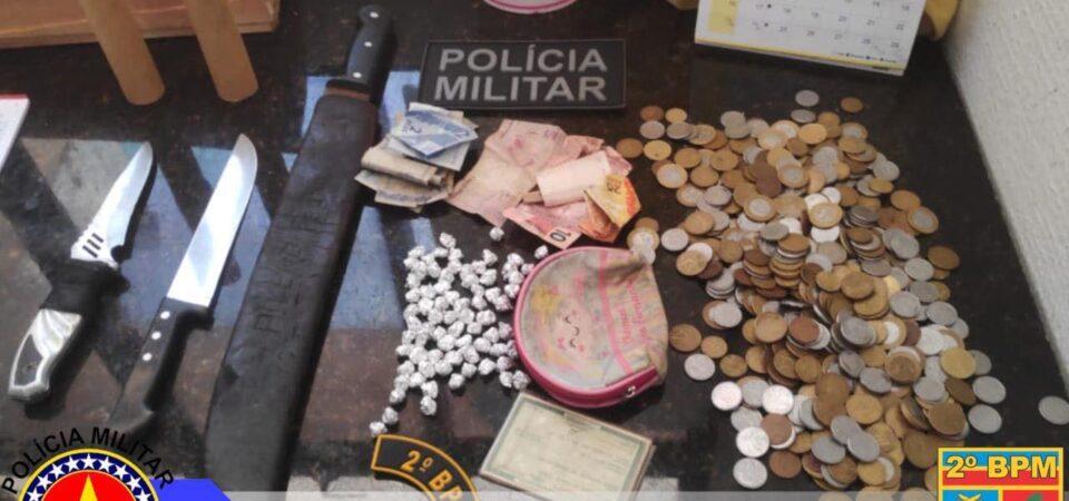 PM realiza prisão de acusado de tráfico de entorpecentes durante operação em Coelho Neto