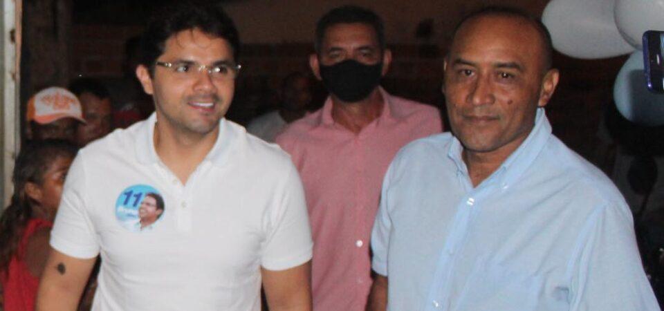Bruno Silva participa de agenda política com o candidato a vereador Sargento Messias no Conjunto Novo Tempo