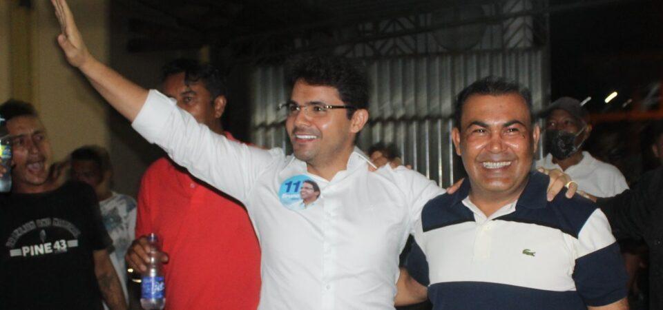 Em clima de festa, multidão recebe Cará e Bruno Silva em lançamento de candidatura