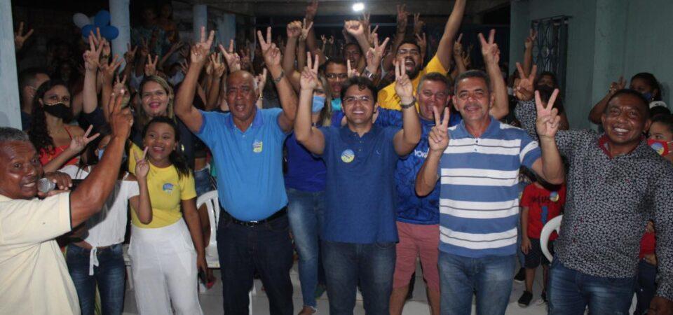 Bruno Silva participa do lançamento da candidatura a vereador de Nonato Leal em Coelho Neto