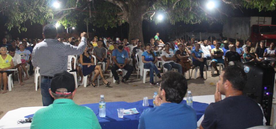Ao lado de Júnior Bezerra, Bruno Silva cumpre agenda na zona rural de Coelho Neto