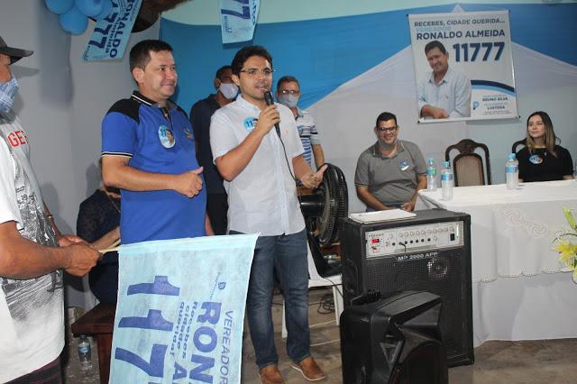 Bruno Silva participa de lançamento de candidatura a vereador de Ronaldo Almeida