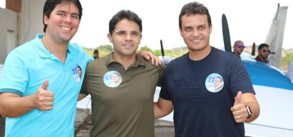Bruno Silva recepciona deputados Glalbert Cutrim e André Fufuca para agenda política em Coelho Neto