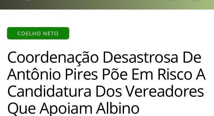 Treta: Candidato a vereador aliado de Albino expõe crise interna na campanha de Antônio Pires