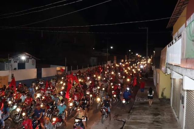 Onda Vermelha marcou inauguração do comitê central de Luís Sousa e Dr. Gonçalves em Duque Bacelar
