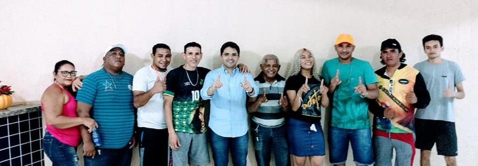 Membros da Associação dos Regueiros de Coelho Neto declaram apoio a Bruno Silva
