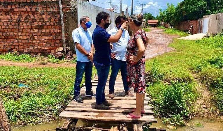 Prefeito Bruno Silva faz visita aos bairros Bonsucesso e Sarney