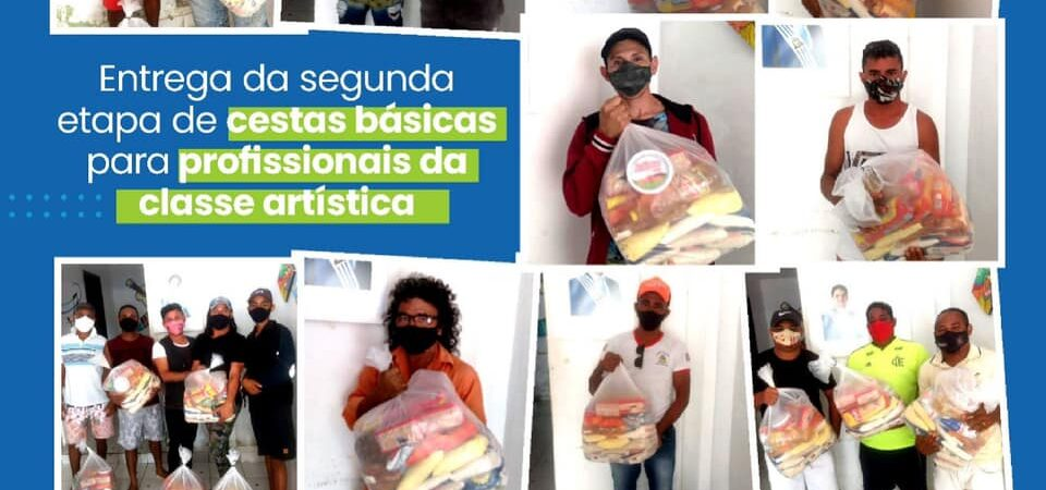 Secretaria de Cultura cumpre entrega da segunda etapa de cestas básicas para a classe artística