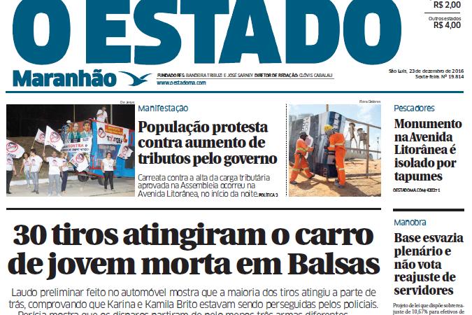 Jornal da família Sarney, O Estado do MA comunica oficialmente encerramento das suas atividades
